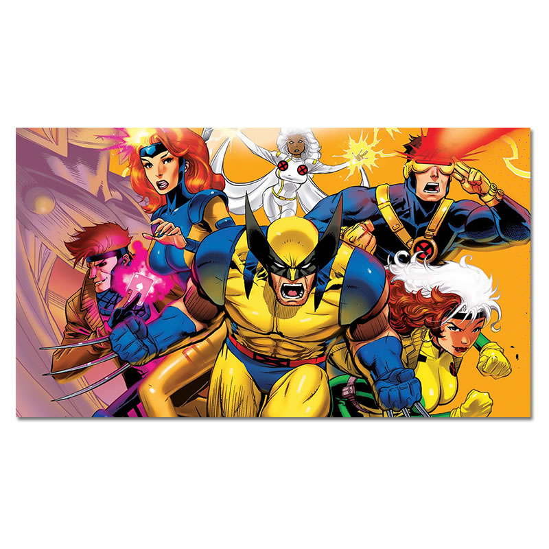 X Men Superhero Silk Poster Cyclops Gambit Wolverine Hero Comics Silk Art Prints Kids Boy Room Wall Decor image