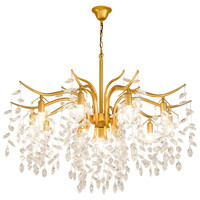 Noble Gold Black Color Super Chandelier with Crystal Pendants for Living room Dining room Table Home Lighting