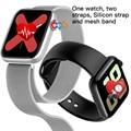2020 neue iwo 16 smart Armband band 1:1 44MM Uhr 5 W75M W75 Sauerstoff EKG Blutdruck Herz Rate monitor passometer Smartwatch-in Smart Watches aus Verbraucherelektronik bei