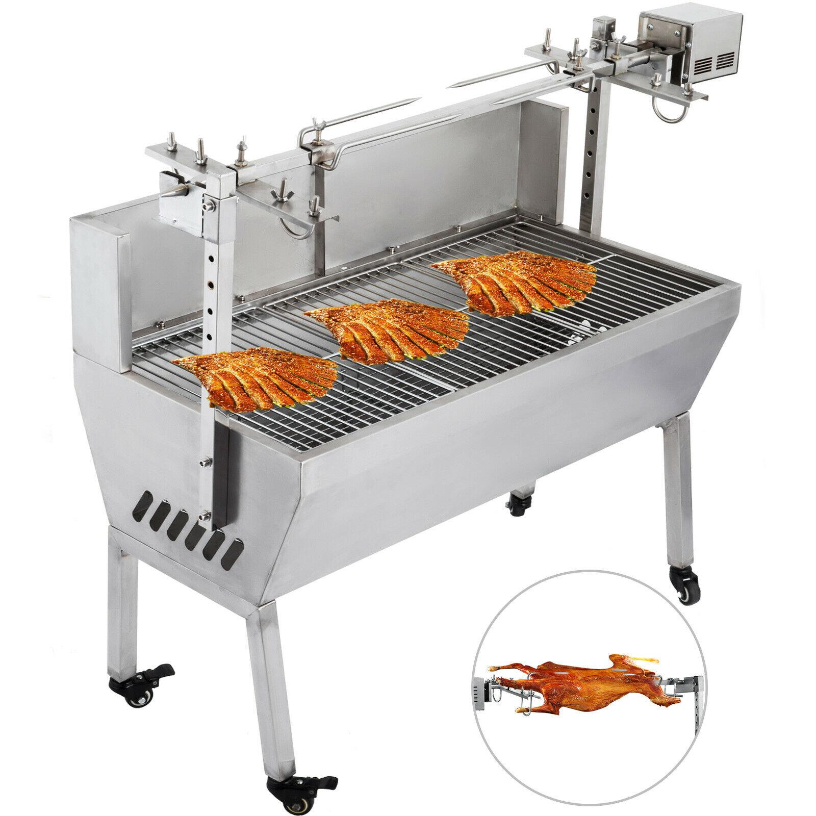 VEVOR 132 Lbs/60KG 110V Rotisserie Grill Roaster BBQ Pig Lamb Stainless Steel