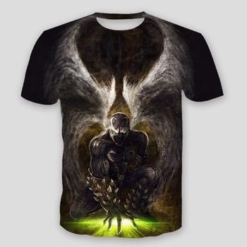Angels Spawn 3D T-Shirt Mens Fashion T-shirt Creative  tide summer Personality 3d