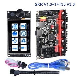 Image 1 - BIGTREETECH SKR V1.3 kontroler TFT35 V3.0 ekran dotykowy + TMC2209 TMC2208 UART sterownik 3D drukarki pokładzie zestawy mks gen L TMC5160