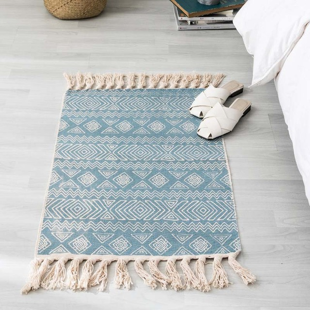 Bohemian Cotton Linen Carpet Mawgie