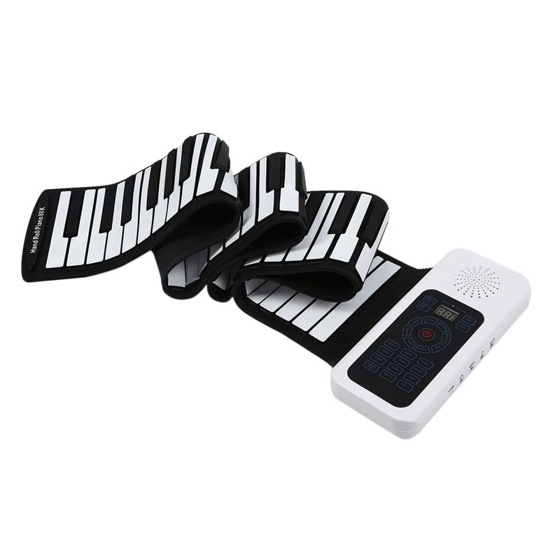 Модернизированное 88 клавиш универсальное гибкое рулон мягкий фортепиано с электронной клавиатурой для гитарных плееров - 5
