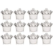 12 PCS Candy Boxes, Plastic Mini Dome with Crown Design Party Decoration Clear Fillable Favor Box for Candie