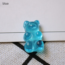 Figurines Miniatures Home Decor Flatback Food DIY Resin Sugar Dollhouse Cute Bear Design 20 pcs QQ Gummy Candy Stationery Box