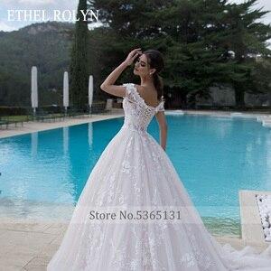 Image 5 - 高級ビーズ王女のウェディングドレス 2020 ショルダーaライン 3D花花嫁カスタマイズvestidoデnoiva