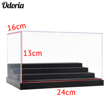 Odoria 24cm L Acrylic Display Case 4 3 Steps Clear Perspex Box Dustproof For Action Figure Model Vehicle Car Dolls Collectibles