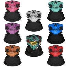 Cagoule de crâne d'halloween pour hommes et femmes, masque de Ski, bonnets d'été, casquettes tactiques pour hommes, cagoule pour hommes, cyclisme magique MZ104