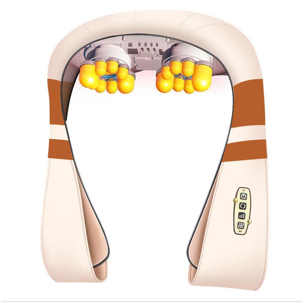 Electrical Massage Shiatsu Back Shoulder Body Neck Massager Multifunctional Shawl Infrared Heated Kneading Car/Home Massager