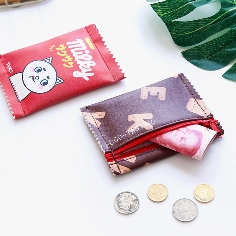 Girl'S Heart Cute Cartoon Students Purse Hipster Korean-style Fun Women's Mini Coin Bag Carrying Bag
