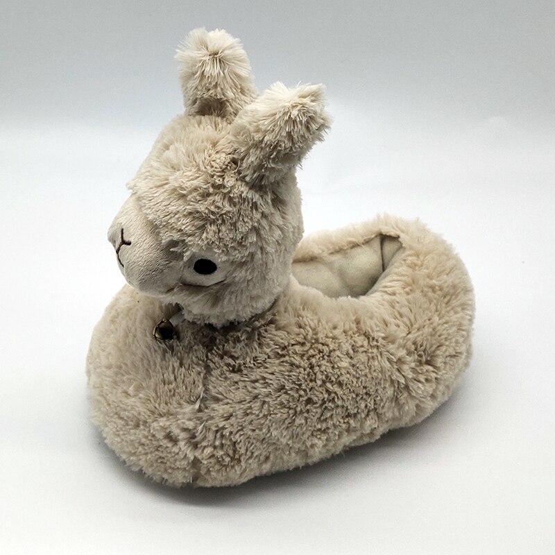 Llama Slippers Alpacasso Plush Alpaca Soft Warm Shoes Fluffy Unisex Kawaii cute