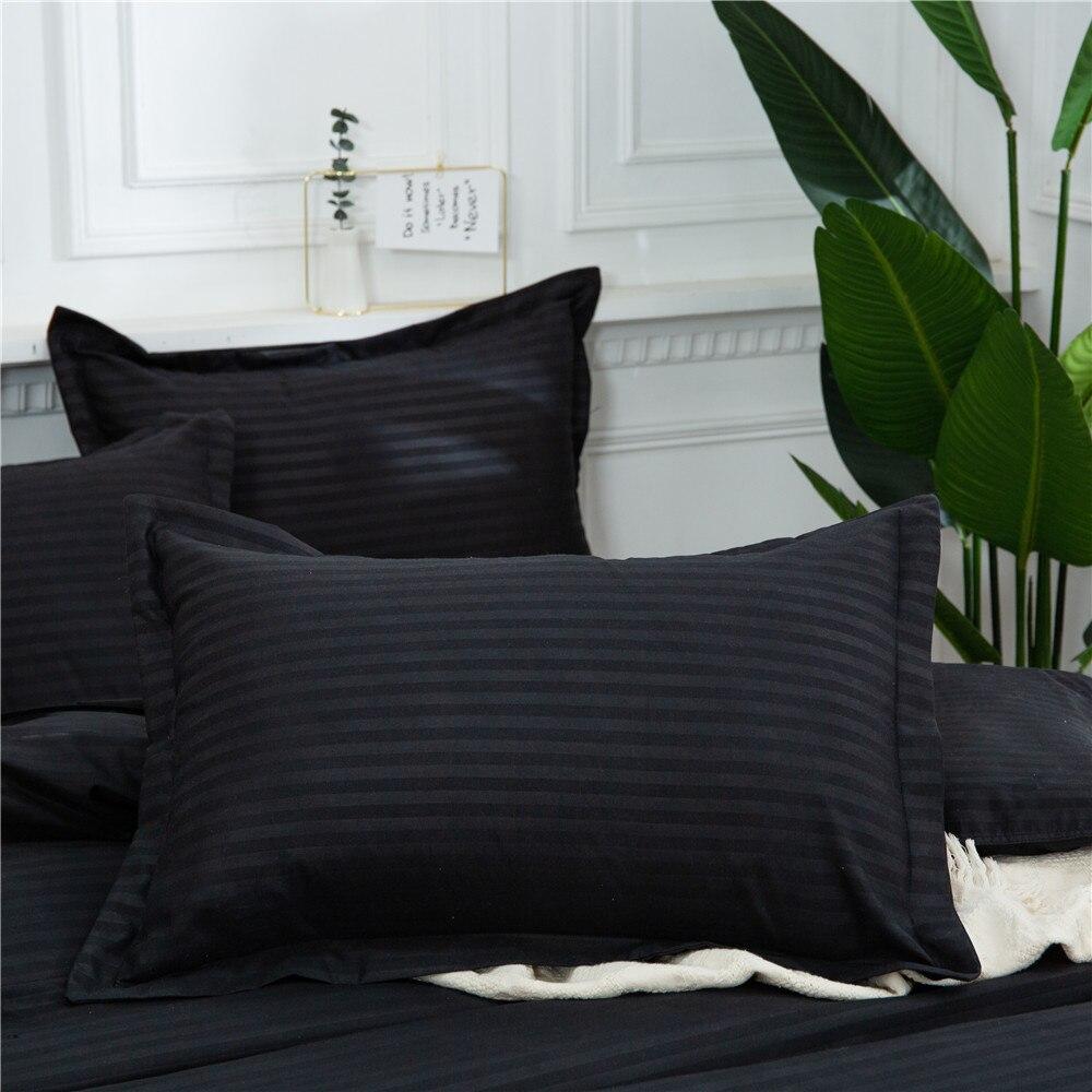 Casa têxtil preto conjunto de colcha dupla