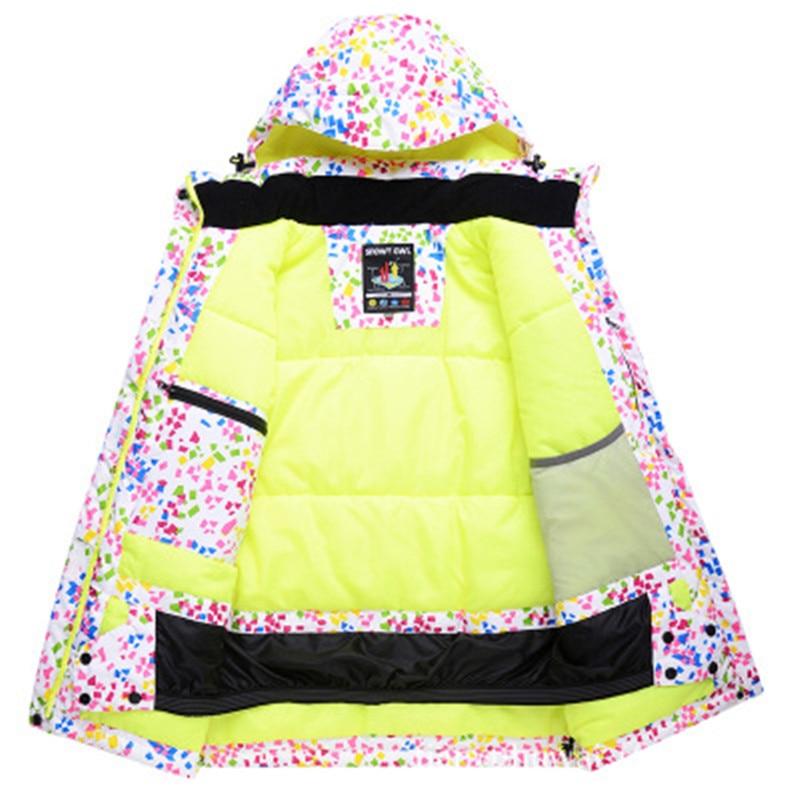 Nouveaux vêtements de ski pour femmes résistant à l'usure en plein air coupe-vent imperméable résistant au froid veste légère - 2