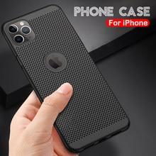 Ultra Slanke Telefoon Case Voor Iphone 12 11 Pro Max Xr 7 8 Plus 12 Mini SE2020 Xs Max X 6 6S Plus Case Warmteafvoer Hard Pc Cover