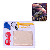 11 type Jurassic Dinosaur Fossil excavation kits Education archeology Exquisite Set Action Children Figure Education Gift Baby