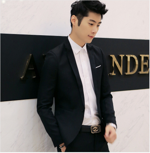 New Style MEN'S Suit Korean-style Slim Fit Youth Popularity Suit Teenager Casual Suit Jacket
