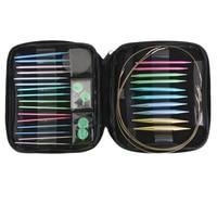 Interchangeable 13 Sizes Aluminium Circular Knitting Needles 2.75mm 10mm