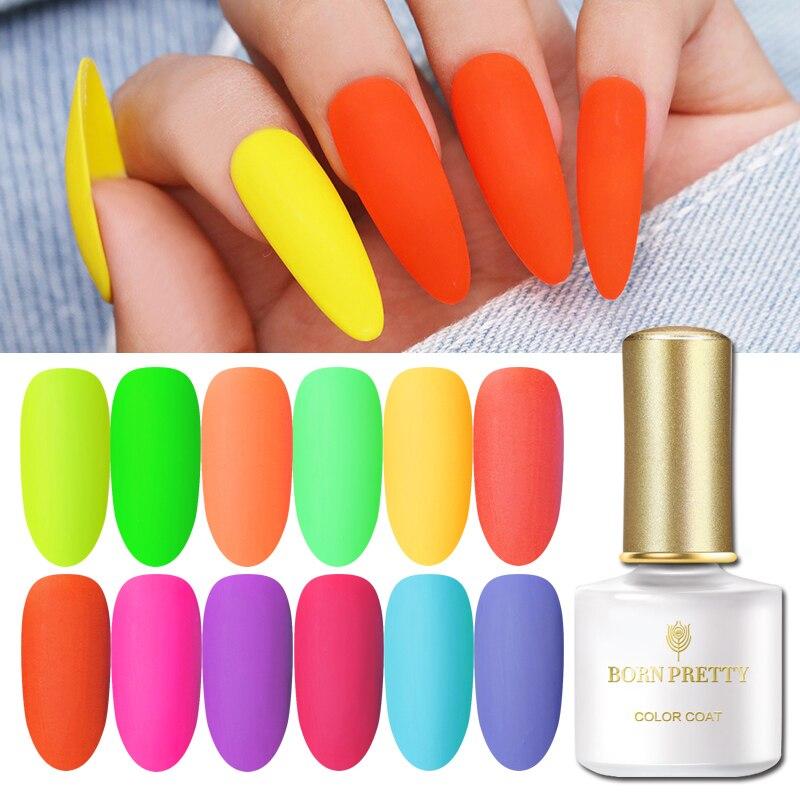 BORN PRETTY Matte Top Coat Color UV Gel Nail Polish Soak Off UV Gel Nail Art Varnish Lacquer For Nails Manicure