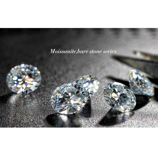 100% Genuine Loose Gemstones Moissanite Stone GRA 1ct D Color VVS1 Lab Diamond Undefined Excellent Cut For Jewelry Diamond Ring 10