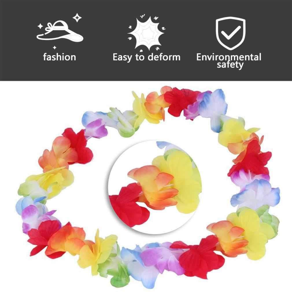 1pc צבעוני פרח זרי הוואי/טרופי מסיבת תחפושת שרשרת 2017 חדש הגעה היקף 96cm