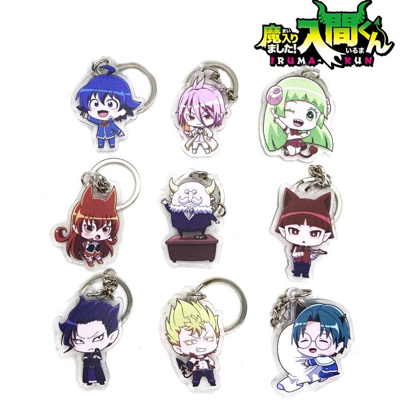 Aime Mairimashita! Iruma-kun Suzuki Iruma Clara Valac Cosplay Acrylic Keychain Charm Keyring Phone Pendant Gifts Key Chain