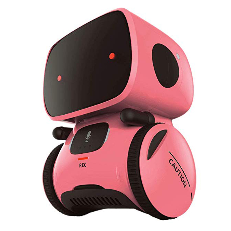 2020 New Toy Pink Robot Intelligent Robot Toy Dance Sing Repeating Recorder Touch Control Voice Control Gift Toy for Kids Age3+