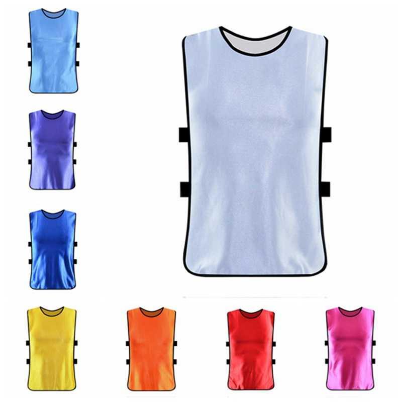 Los niños adultos equipo deportivo de fútbol entrenamiento de baloncesto equipo camisetas seca rápido transpirable entrenamiento chaleco Peto