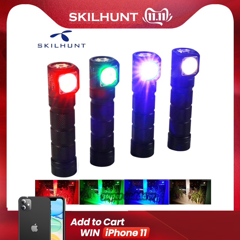 Skilhunt H03C RC Red/Green/Blue/White Multi-colors LED Headlamp Flashlight