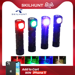 Skilhunt H03C RC rouge/vert/bleu/blanc multi-couleurs LED lampe frontale