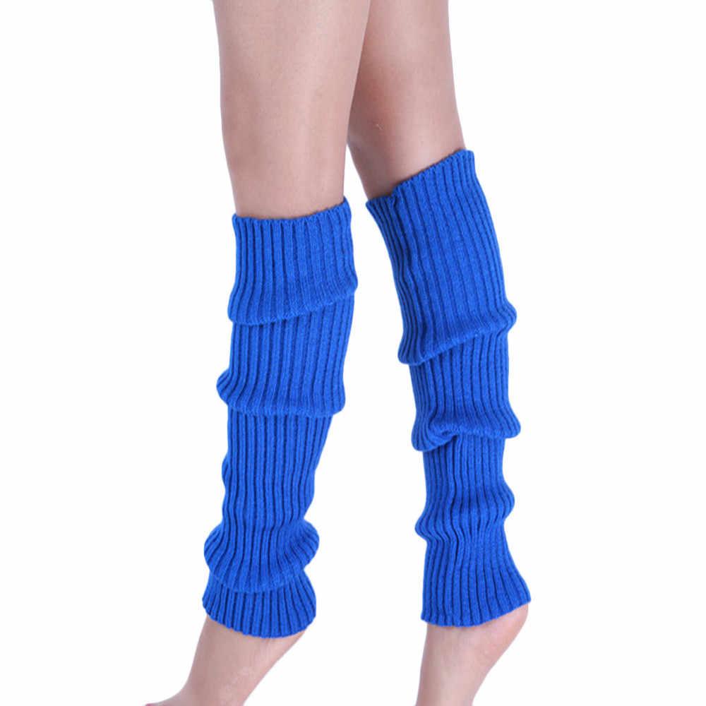 Boot Cuffs Warmer ฤดูหนาวถุงน่องขาถักอบอุ่นต้นขาสูงถุงน่องถักเข่าเข่าขาอุ่นสีดำสีเทาถุงน่อง