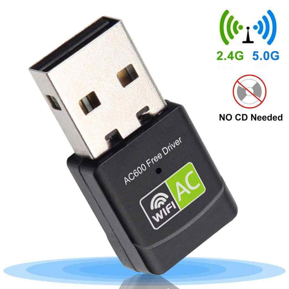Adaptador WiFi USB Ethernet WiFi USB Dongle 600Mbps 5Ghz USB adaptador Lan Wi-Fi PC Antena Wi Fi receptor AC de tarjeta de red inalámbrica