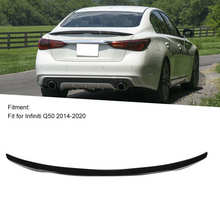 Trunk-Lid Spoiler Wing Infiniti Q50 for Factory-Style Fit-For Black Glossy High-Kick