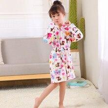 Детское полотенце; банный халат для малышей плотный теплый фланелевый Халат с принтом для мальчиков и девочек; ночной халат; Пижама; Ночная рубашка детская одежда для сна с поясом