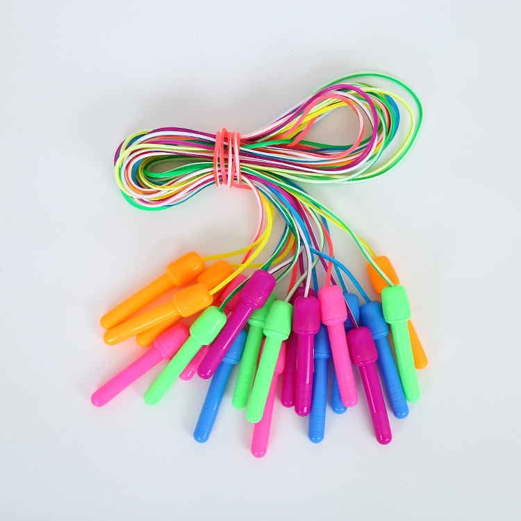 Children PVC Kindergarten Activity Jump Rope Big Head Two Game Jump Rope Training Candy-Colored Students Jump Rope