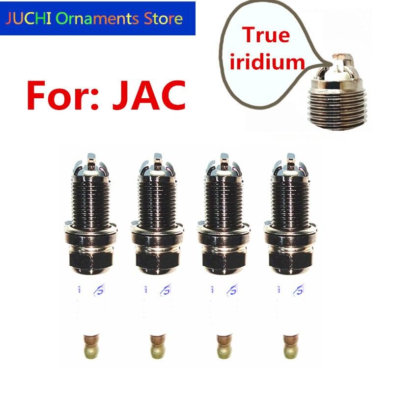 Beautiful 4pcs Car Spark Plugs, Igniters, Iridium Spark Plugs For Jac J2 J3 J4 J5 T40 T5 T6 Rein Refine