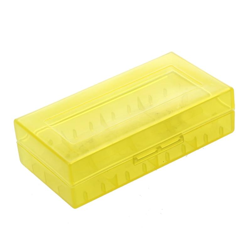 Gelb 18650 Batterie Kunststoff Lagerung Fall Box Halter