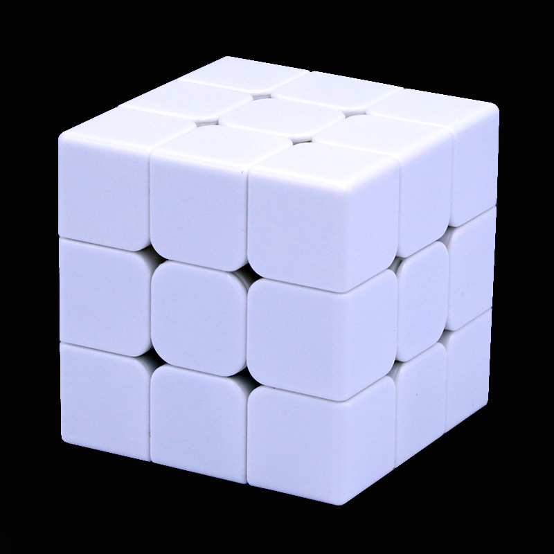 Speed Twist Three Layer Rubik's Cube White Light Embryo Four-into UV Graphic Customization Children Early Childhood Intellectual