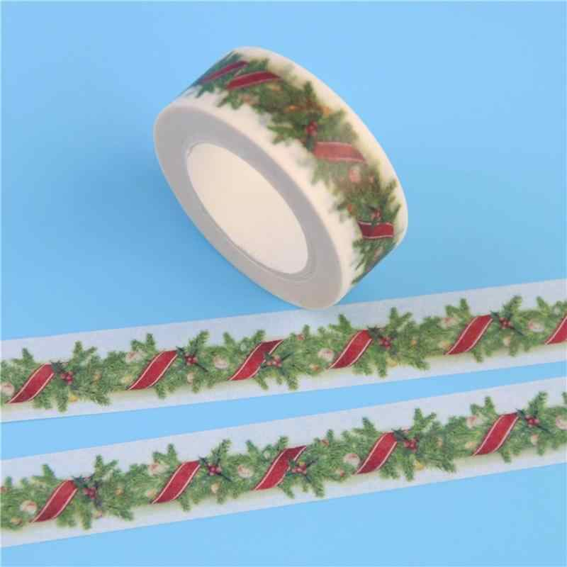 Vividcraft اليابانية اشي شرائط ورقية ملصقات عيد الميلاد DIY بها بنفسك طباعة الشريط كرافت نمط لاصق الخردة St اخفاء الحجز ديكو J3X8