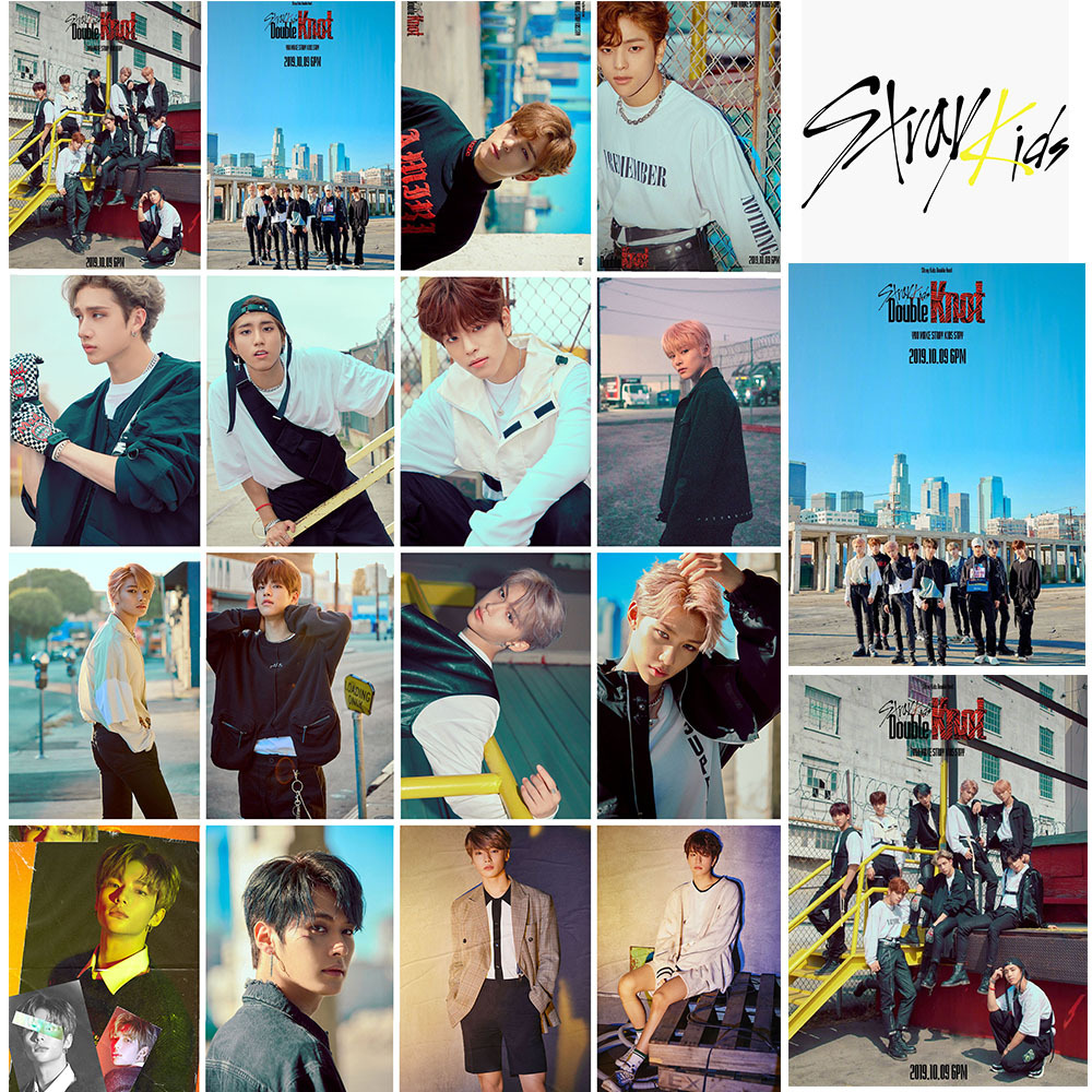 18pcs/set Kpop Stray Kids Photocard For Fans Collection Gift Double Knot Album Photo Card K-pop Stray Kids Wholesale Price