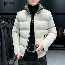Jackets Padded-Coat Zipper Brand-Clothing Warm Thick High-Necked Men's Cotton 4XL KOLMAKOV