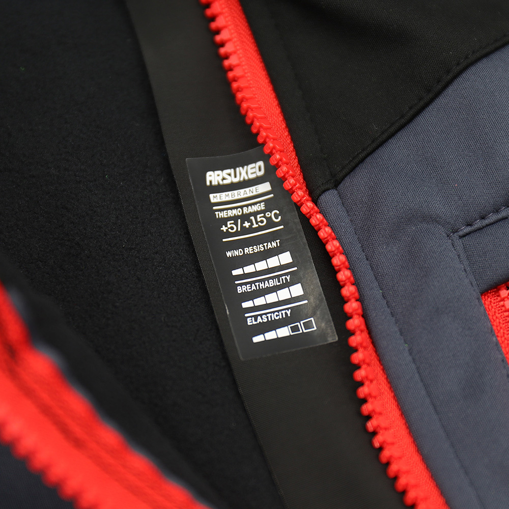 Купить с кэшбэком ARSUXEO Men Winter Cycling Jacket Thermal Warm MTB Bike Jacket Windbreaker Waterproof Bicycle Sofeshell Coat Reflective 17D