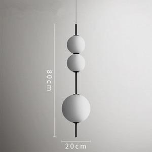 Image 4 - מודרני LED תליון מנורות תליית מנורות מסעדה דלעת תליון אורות בית קפה בר חדר שינה מטבח חדר אוכל זכוכית דקו גופי
