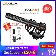 Comica – Microphone à condensateur Super cardioïde, OLED, multifonctionnel, pour Smartphone, appareil photo Sony, Nikon, Canon