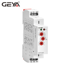 Free Shipping GEYA GRT8-M Din Rail Multifunction Timer Relay AC230V OR AC/DC12-240V with10 Adjustable Delay Functions