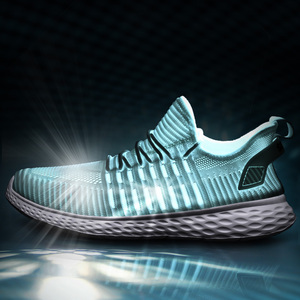 Image 3 - Zapatillas de deporte blancas para Hombre, zapatos informales ligeros, planos, transpirables, cómodos, 39 47