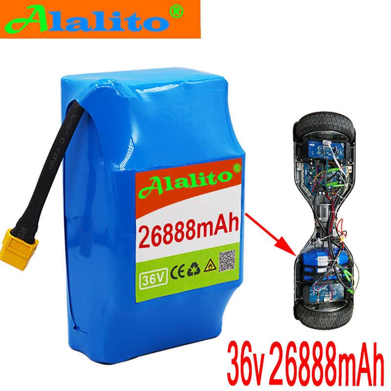36V מעולה ליתיום יון נטענת סוללה 26888mAh 26.88AH ליתיום-יון סוללה עבור חשמלי עצמי יניקה hoverboard חד אופן