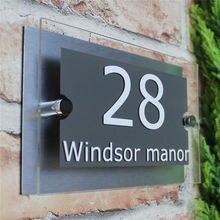 Табличка с номером на заказ акриловая Современная табличка дверь