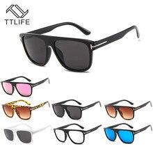 TTLIFE New Fashion Square Sunglasses Women 2019 Brand Gradient Color Frames With T Unique Female Male Eyewear Oculos de sol