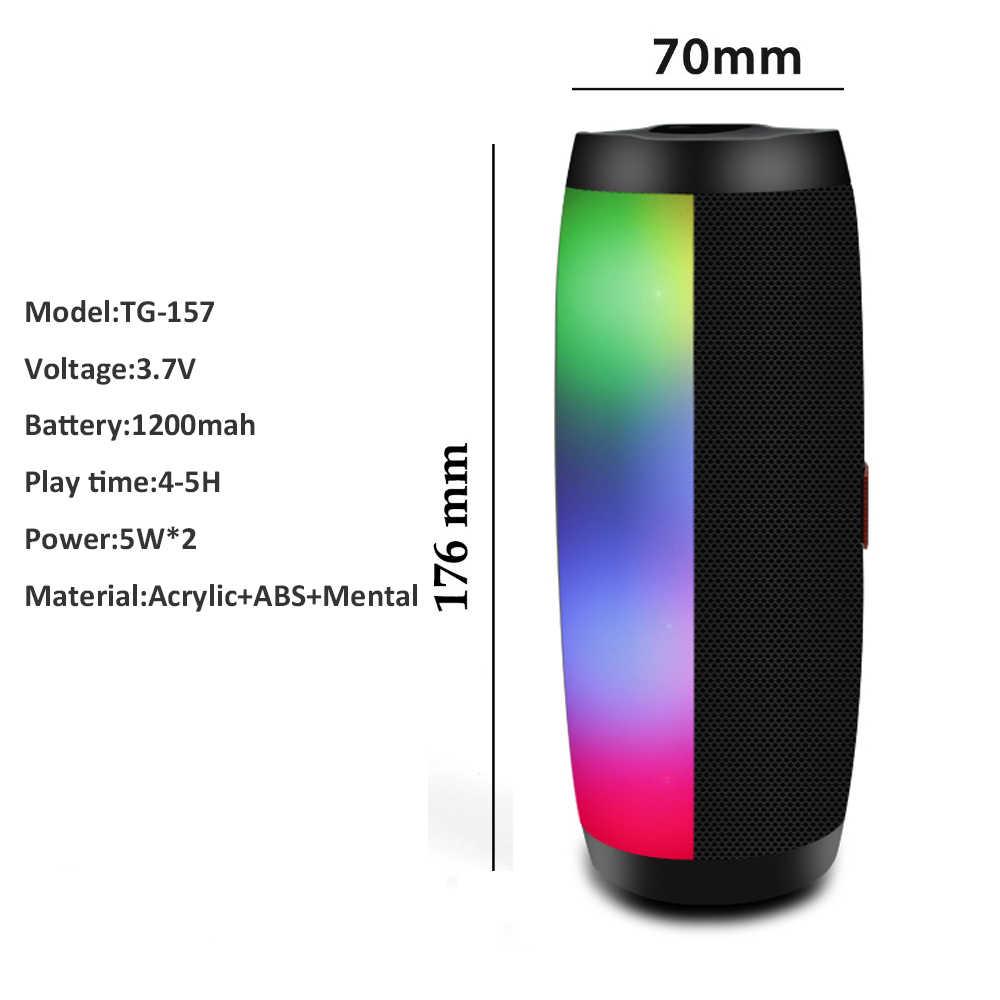 Kuat Portable Speaker Bluetooth Kolom Speaker Nirkabel untuk Smartphone Komputer dengan LED Light TF Kartu FM Radio BOOMBOX
